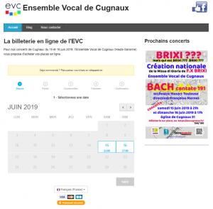 La billetterie en ligne http://evcugnaux.fr
